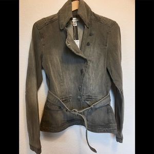 NWT Mango Jeans Faded Military High Collar Jacket